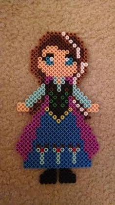 Princess Anna - Frozen perler beads by AlchemicArtist13