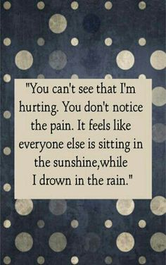 Sad, hurt, crying. But doesn't notice it..listens but doesn't know what to do. I will pray that he knows what I need from him