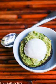 Smashed Miso Avocado and Egg in a Cup