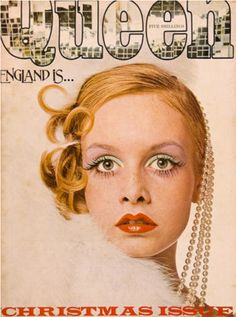 Twiggy on the cover of Harpers & Queen, December 1973