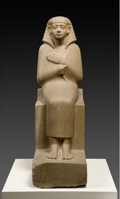 Seated figure of Chertihotep Statue (sculpture) 12th Dynasty   Egypt (country)   Collection | Egyptian Museum