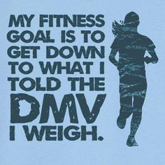 Haha! I actually want to go lower than what the DMV thinks I weigh. www.fitmomsforlife.com