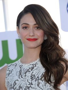 Emmy Rossum Retro Hairstyle
