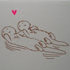 otters hold hands!!!!!:D