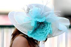 Completely love this hat... Next derby day, I am getting an outrageous hat...even if only for my living room!