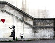 Banksy Canvas Custom Art (MOUNTED) - 27x36 There Will Always Be Hope