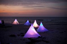 beach camping!  Would love to do this at least once!