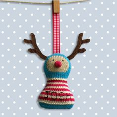 Rudolph Knitting Pattern. Christmas decoration / by BooBiloo