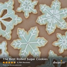 """The Best Rolled Sugar Cookies 