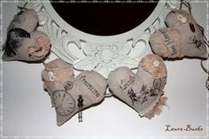 Sweet Fabric Heart Banner made by Laura Busko