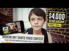 Modern Day Saints $4,000 Video Contest. Open to students 13-18. 4 winners. Apply by Oct. 24
