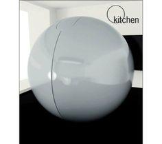 Diseño conceptual de cocina futurista con forma de bola | Artilugios de cocina