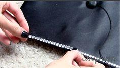 graduation cap rhinestone strips