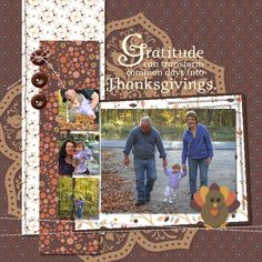 Thanksgiving Scrapbook layout for the Hop