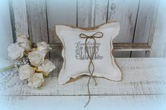 Everlasting Love Ring bearer pillowmade with a by victorianstation, $32.00