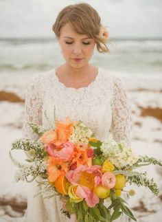 whimsical beach bouquet