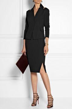 Donna Karan|Cutout ponte blazer|NET-A-PORTER.COM