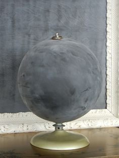 DIY Chalkboard paint on a globe @Ashley Walters Walters Greenwood I've decided for you that you will start collecting globes. :)