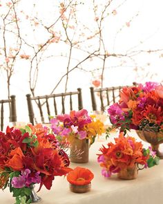 Wedding Colors: Bright Summer Inspiration! #orange #red #wedding