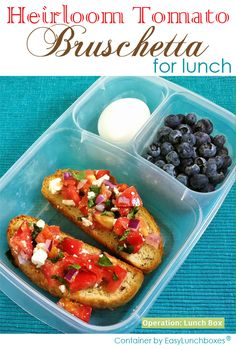 How to pack tomato bruschetta for lunch