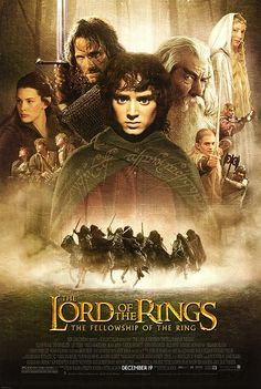 Lord of the Rings: The Fellowship of the Ring movie poster--2001