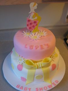 Modern Mommy Baby Shower Cake