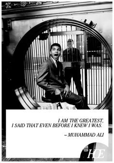 """Quote of the Day: Muhammad Ali"""