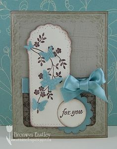 Stampin' Up!  Two Tags  Bronwyn Eastley