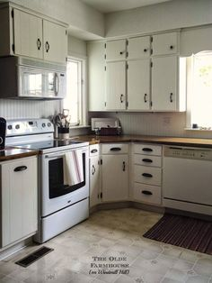 paint cabinet, wooden countertop, painted cabinets, farmhouse kitchens, kitchen remodel