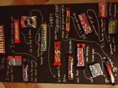 Graduation candy gram I made for Kyle. (: More