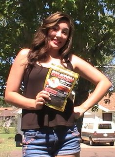 Jordan was able to snatch a bag of Original Peppered beef jerky and she loves it!! SNATCH beef jerky!!