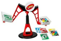 UNO Tippo Game (027084810653) The Ultimate balancing UNO game The object is to race to get rid of all your cards Exciting game of steady nerves and perfect balance Match color and number but discard carefully If you tip the trays, draw 4 cards