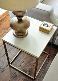 Ugrade a Target side table Tutorial.   AND 45 BEST Weekend Lifestyle DIY Tutorials EVER. DECOR, FURNITURE, JEWELRY, FOOD, WHIMSEY, PARTY from MrsPollyRogers.com