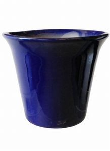 Spanish cobalt blue planter