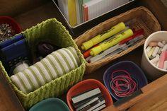 Organized junk drawer.