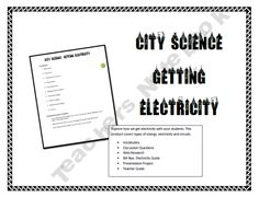 City Science - Getting Electricity (Electricity, Circuits and Energy)
