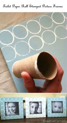 Toilet Paper Roll Stamped Picture Frames   Crafts and DIY Community