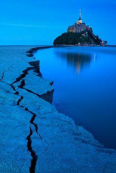 Blue Hour Mont Saint-Michel, France