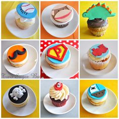 Cupcakes for boys!