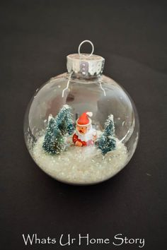Winter Snow Globe Or
