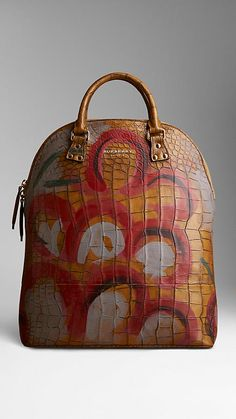 The Bloomsbury in Hand-painted Alligator | Burberry