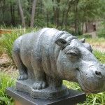 Hippos and Love birds and Madonnas, oh my! Give Umlaf Sculpture Garden a visit.