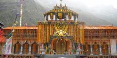 Badrinath Temple in Garhwal Himalayas, dedicated to lord Vishnu.