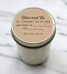 Pomegranate Sage Soy Candle