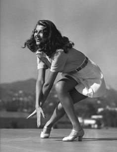 Rita Hayworth c.1942. Whenever I see a pic of her I think of Shawshank Redemption.