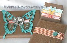 butterfli, inspir ave, silhouett, wrap idea, christmas holidays, gift wrapping, packag idea, wrapping gifts, bakers