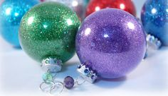 glitter ornaments, gift, diy ornaments, craft stores, floor cleaner, christma ornament, glass ornaments, glitter christma, diy christmas ornaments
