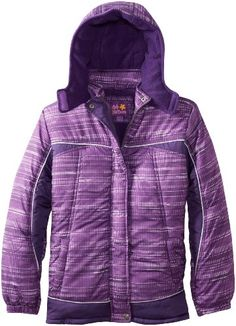 70% Off was $55.00, now is $16.50! Pink Platinum Girls 7-16 Space-Dye Printed Puffer Coat