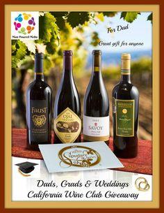 Dads, Grads & Weddings California Wine Club Giveaway