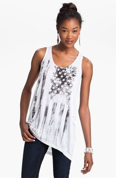 h.i.p. Distressed Flag Graphic Tank (Juniors) available at #Nordstrom